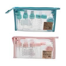 Portable Cosmetics <b>Dispensing</b> Set <b>Travel</b> Bottles Set 10 Pcs Air ...