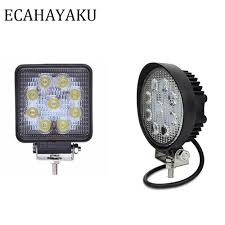 "<b>ECAHAYAKU 1Pcs 4""inch</b> 27W LED Work Light Bar <b>12V</b> 24V ..."