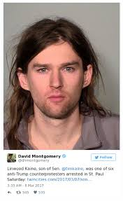 sen tim kaine s son arrested during trump rally at mn capitol inform news