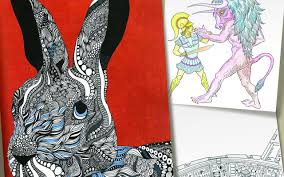 colouring books used to be fun when did they get so mindful look into my eyes images such as this art therapy rabbit now outsell