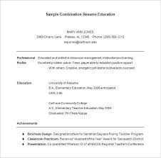 sample combination resume template free download free combination resume template