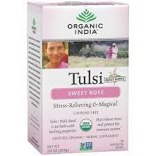 <b>Tulsi Sweet Rose</b> (18 <b>Tea</b> Bags) by Organic India USA at the ...