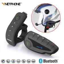 vnetphone brand v5 1200m bt bluetooth motorcycle helmet interphone for 5 riders talk at same time intercom with headset