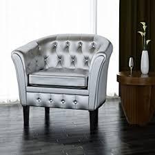 Tidyard Artificial Leather Sofa Tub Chair Arm Chair ... - Amazon.com