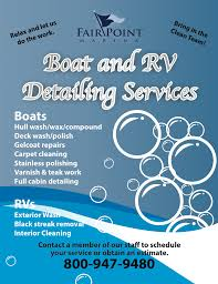 boat detailing and rv cleaning services available fair point marina boat detailing services