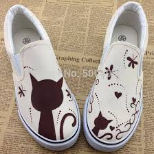 Online Shop Cute And <b>Sweet Cartoon Cat</b> Painting Pattern Canvas ...