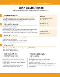 example of resume jobstreet best online resume builder best example of resume jobstreet sample resume format for fresh graduates one page format sample resume format