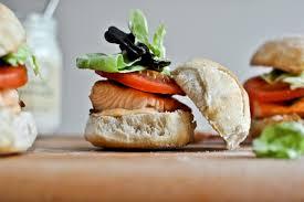 Crispy <b>Salmon</b> BLT <b>Sliders</b> with Chipotle Mayo