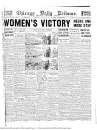 atomic bomb dropped on hiroshima historic front pages voting rights for women 1920