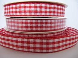 10mm Red <b>Check Gingham Ribbon</b> on 5 Yard Roll: Amazon.co.uk ...
