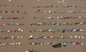 aerial photos of colorado flooding business insider a field of parked cars and trucks sits partially submerged near greeley colo saturday sept 14 2013 as debris filled rivers flooded into towns and