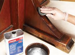 gently clean the finish with steel wool and mineral spirits to remove old furniture polish wax and grease the new finish coats wont adhere properly if antique furniture cleaning