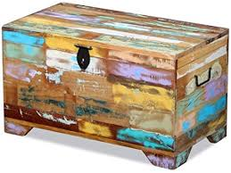 SKB family <b>Storage Chest Solid Reclaimed</b> Wood, Multicolor, Solid ...