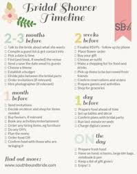 shower radio review guide x: southbound guide how to plan the perfect bridal shower plus printable timeline
