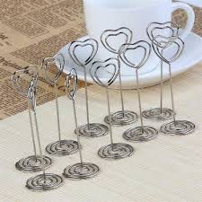 Wedding Party <b>Table</b> Place Card Holder Silver Heart | eBay
