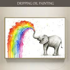 <b>New Arrivals Artist Hand painted</b> High Quality Big Animal Elephant ...