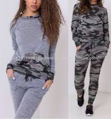 <b>Women Two Piece</b> Set Tracksuits Top and <b>Pants</b> Camouflage ...