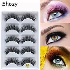 <b>Shozy</b> 5 pairs faux mink <b>false</b> eyelashes <b>handmade</b> 3D eyelashes ...