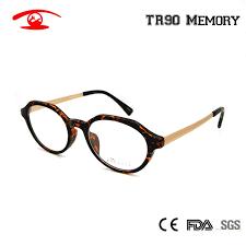 Vintage Glasses Frame Round <b>TR90</b> Flexible Eyewear Frame in ...