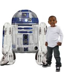 Giant Gliding <b>Star Wars R2-D2 Balloon</b> 38in x 34in | Party City