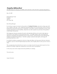 cover letter for librarians template cover letter for librarians