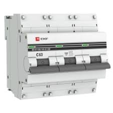 <b>Автоматический выключатель</b> 3P 63А (C) 10kA ВА 47-100 <b>EKF</b> ...