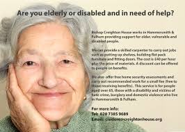 old oak centre are you elderly or disabled and in need of help at for 100 years bishop creighton house has been working in hammersmith fulham providing support for older vulnerable and disabled people