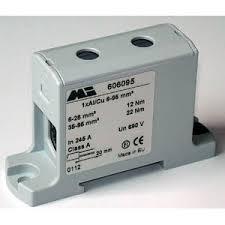 Screw connection <b>terminal block</b> / DIN rail-mounted / gray / feed ...