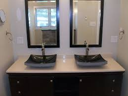 f best contemporary black bathroom vanities design of the looks rectangle white cultured marble countertop with trendy gray square vessel sinks using amazing contemporary bathroom vanity