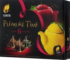 <b>Curtis Pleasure Time</b> желтый , <b>розовый</b>, чайное арома-ассорти в ...