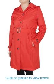 Capelli <b>New York Ladies</b> Solid Trench Rain Coat with Belt #Capelli ...