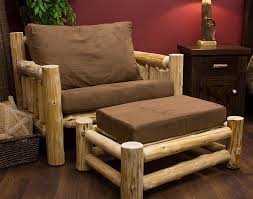 cedar lake cabin log chair and a half log furniture ideasrustic cabin furniture ideas