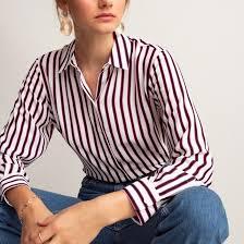 <b>Рубашка</b> струящаяся в <b>полоску</b>, длинные рукава в <b>полоску La</b> ...