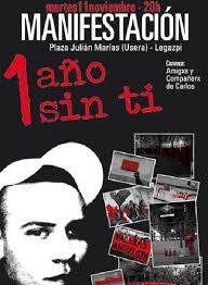 El cartel de la manifestación en recuerdo de Carlos Palomino. - 1226395033_850215_0000000000_sumario_normal