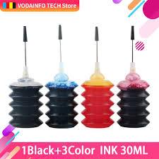 <b>QSYRAINBOW</b> 30ml <b>Black For</b> Canon <b>For</b> HP All Inkjet Printer ...