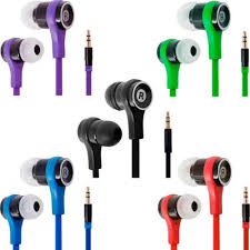 3.5mm <b>In Ear Earbuds Noodle</b> Line Earphones Bass Stereo ...