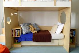 extra storage space design below the couch by casa kids bunk bed steps casa kids