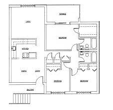 A Three Bedroom Floor Plan   Modern Teen BedroomGood Bedroom Floor Plans d