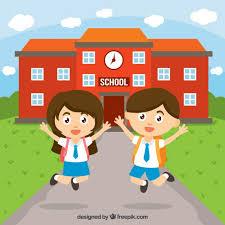 Resultado de imagen de niños van colegio dibujo