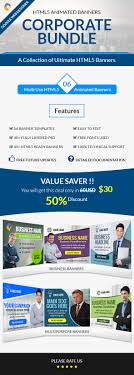 corporate bundle 6 in 1 html5 ad banner templates by themesloud corporate bundle 6 in 1 amazing html5 animated ad banner templates for your business corporate needs we have selected the best fully customizable