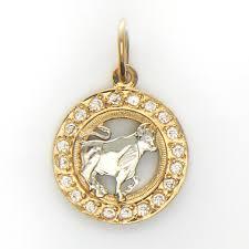 """<b>Знак зодиака</b> """"Телец"""" комбинированное золото 585 проба купить ..."""