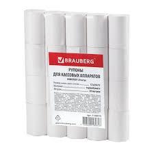 <b>Чековая лента</b> ТЕРМОБУМАГА 57 мм (диаметр 37 мм, длина 20 ...