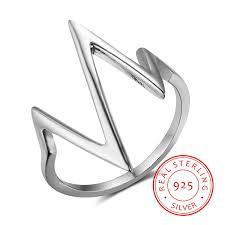 High Quality <b>925 Sterling Silver</b> Rings Female Love Ecg Rings ...