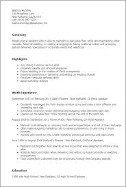 professional floral assistant templates to showcase your talent    resume templates  floral assistant