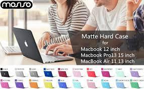 <b>MOSISO Matte</b> Laptop <b>Case</b> For Macbook Pro Retina Air 11 12 13 ...