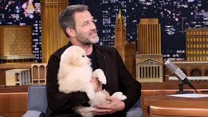stephen moyer guests on the tonight show starring jimmy fallon stephen moyer invites puppies to his interview
