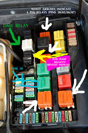 1994 e36 m3 fuel pump relay issues here s the view of my fuse and relay box from the front of the car