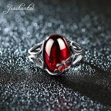 JIASHUNTAI <b>Vintage 925 Sterling Silver</b> Rings For Women Natural ...