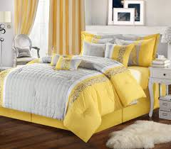 bed decoration grey yellow bedroom wooden floor in gray and yellow bedroom with cool double bed plus pict