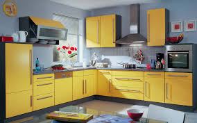 images blue yellow kitchen design